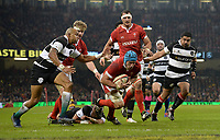 Wales Justin Tipuric goes over but the try is not given <br /> <br /> Photographer Ian Cook/CameraSport<br /> <br /> 2019 Autumn Internationals - Wales v Barbarians - Saturday 30th November 2019 - Principality Stadium - Cardifff<br /> <br /> World Copyright © 2019 CameraSport. All rights reserved. 43 Linden Ave. Countesthorpe. Leicester. England. LE8 5PG - Tel: +44 (0) 116 277 4147 - admin@camerasport.com - www.camerasport.com