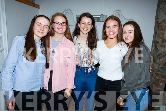 Enjoying the night out in Bella Bia on Friday night.L-r, Mary O'Connell, Molly O'Carroll, Iona O'Neill, Niamh McMahon and Sinead O'Brien.