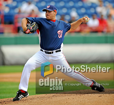 14 March 2008: Washington Nationals' pitcher Matt Chico in action during a Spring Training game against the Cleveland Indians at Space Coast Stadium, in Viera, Florida. The Nationals defeated the visiting Indians 8-4 as both teams fielded split squads home and away...Mandatory Photo Credit: Ed Wolfstein Photo