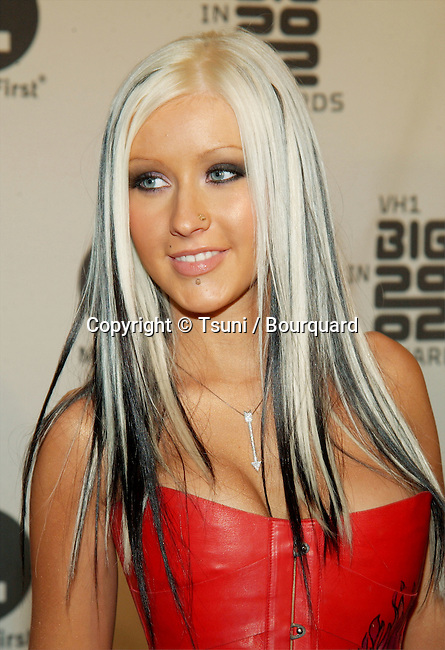 Christina Aguilera arrives at the VH1 Big in 2002 Awards held at the Grand Olympic Auditorium on December 4, 2002.