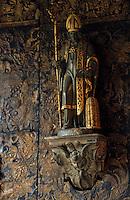 Europe/Belgique/Flandre/Province d'Anvers/Anvers : Maison de Rubens - Détail statue de Saint-Arnoul (patron des brasseurs)