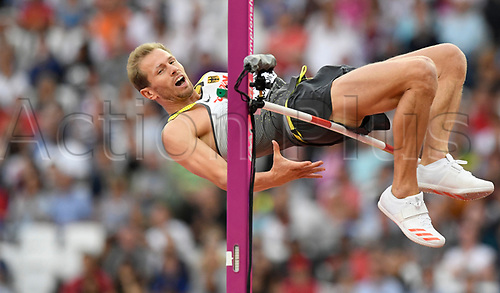 August 12th 2017, London Stadium, East London, England; IAAF World Championships, Day 9;  Germany's Eike Onnen touches the bar in high jump at the IAAF London 2017 World Athletics Championships in London, United Kingdom, 13 August 2017.