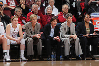 STANFORD, CA - January 21, 2012: Stanford Cardinal's coaches during Stanford's 65-47 victory over Washington at Maples Pavilion.