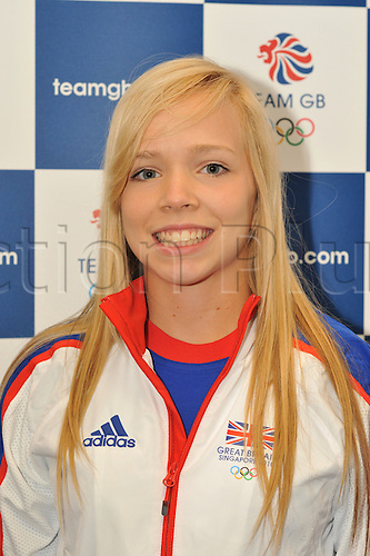 9.08.2010: The GB Youth Olympic Team and Officials. The British team prepare to fly to Singapore for the first ever Youth Olympics. The picture shows Sarah Milne from Leeds who is competing in the womens singles badminton.
