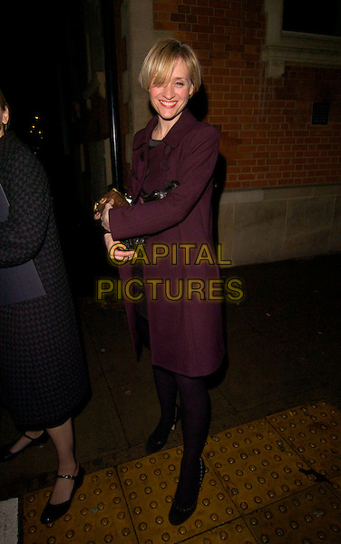 ANNE MARIE-DUFF.Bryan Adams: Modern Muses - private view, The Hospital, London, England..November 27th, 2007.full length black tights purple coat jacket .CAP/CAN.©Can Nguyen/Capital Pictures