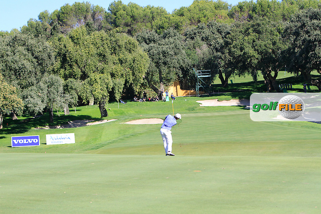 Matteo Manassero (ITA) during the 2nd day at the  Andalucía Masters at Club de Golf Valderrama, Sotogrande, Spain. .Picture Denise Cleary www.golffile.ie