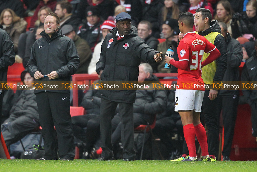 Charlton Athletic Manager Chris Powell - Charlton Athletic vs Leeds United - Sky Bet Championship Football at The Valley, London - 09/11/13 - MANDATORY CREDIT: Simon Roe/TGSPHOTO - Self billing applies where appropriate - 0845 094 6026 - contact@tgsphoto.co.uk - NO UNPAID USE