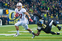 EUGENE, OR - NOVEMBER 1, 2014:  Christian McCaffrey during Stanford's game against Oregon. The Ducks defeated the Cardinal 45-16.