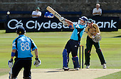 Scottish Saltires V Leicester Foxes, CB40 series, at Mannofield, Aberdeen - still game, the end of a 17 international batting career came for Scotland's Gavin Hamilton later in this innings with an lbw decision, for 22 runs - Picture by Donald MacLeod 22.06.10 - mobile 07702 319 738 - words (if required) from William Dick 077707 83923