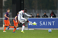 Oumar Solet scores the second goal for Olympique Lyonnais during Lyon Under-19 vs Manchester City Under-19, UEFA Youth League Football at Groupama OL Academy on 27th November 2018