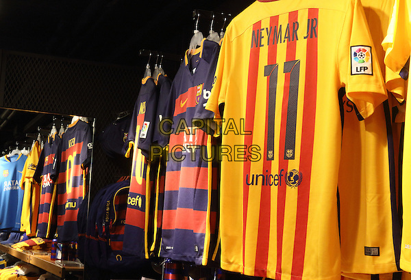 Barcelona FC Shop in Barcelona, Spain, on Wednesday September 16th 2015<br /> CAP/ROS<br /> &copy;ROS/Capital Pictures