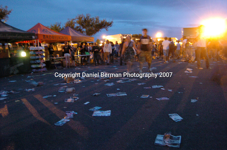 Daniel Berman for Alternative Press Magazine..Music fans proceed to the exits after the Vans Warped Tour Saturday August 18 at the Gorge Amphitheatre in George, WA...George, WA