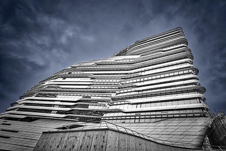 Hong Kong Polytechnic University Innovation Tower designed by Zaha Hadid.