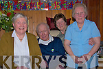 Birthday celebrations for Frank Fitzgeralds 90th birthday of Cappa, Cloghane,Brandon with his 3 sisters.From left. Nora Lynch  age 86 who resides in Ballyheigue, Frank Fitzgerald age 90, Kathleen Prenty age 84 in New York , Maureen Murphy age 88 in Cloghane.   Copyright Kerry's Eye 2008