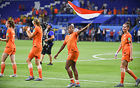 20190703 - LYON , FRANCE : Dutch players with Lineth Beerensteyn pictured celebrating after winning the female soccer game between Netherlands – Oranje Leeuwinnen - and Sweden  , a knock out game in the semi finals of the FIFA Women's  World Championship in France 2019, Wednesday 3 th July 2019 at the Stade de Lyon  Stadium in Lyon  , France .  PHOTO SPORTPIX.BE | DAVID CATRY