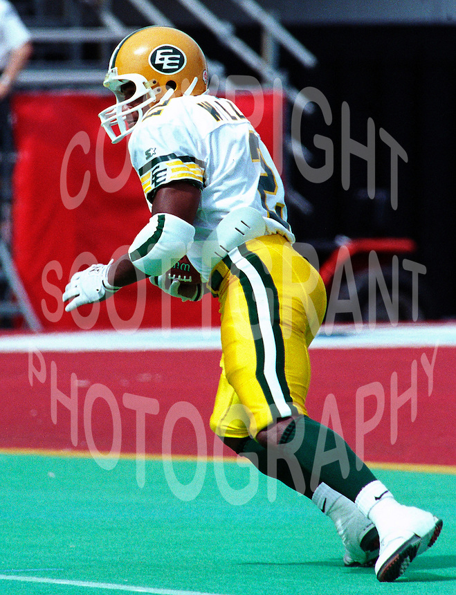 Henry Gizmo Williams Edmonton Eskimos 1995. Photo F. Scott Grant