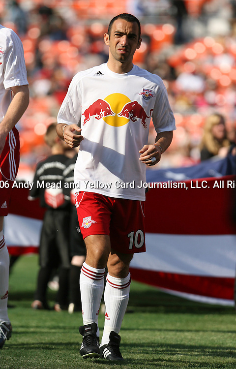 02 April 2006: New York's Youri Djorkaeff. Major League Soccer's DC United and New York Red Bulls tied 2-2 in an opening day Major League Soccer regular season game at RFK Stadium in Washington, DC.