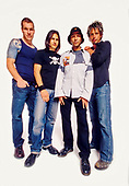 AUDIOSLAVE - L-R: Tim Commerford, Brad Wilk, Tom Morello, Chris Cornell - Photosession in Los Angeles CA USA - October 2002.  Photo credit: Annamaria DiSanto/IconicPix