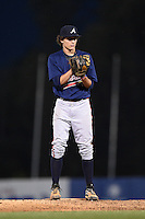 Nick Neidert (17) of Peachtree Ridge High School in Lawrenceville, Georgia playing for the Atlanta Braves scout team during the East Coast Pro Showcase on August 1, 2014 at NBT Bank Stadium in Syracuse, New York.  (Mike Janes/Four Seam Images)