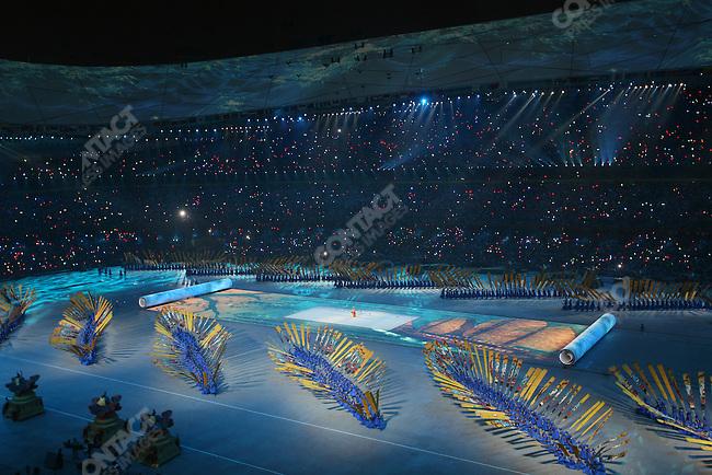 Opening ceremonies of the Summer Olympics, National Stadium, Beijing, China, August 8, 2008