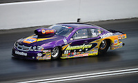Jun. 16, 2012; Bristol, TN, USA: NHRA pro stock driver Vincent Nobile during qualifying for the Thunder Valley Nationals at Bristol Dragway. Mandatory Credit: Mark J. Rebilas-