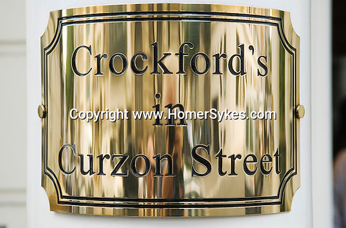 Crockfords in Curzon Street W1. Mayfair central London. City of Westminster. England 2006.