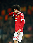 Marouane Fellaini of Manchester United dejected during the UEFA Europa League match at Old Trafford. Photo credit should read: Philip Oldham/Sportimage