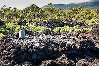 Hawaiian fishing shrine along the ocean, Waianapanapa State Park, Maui
