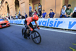 Jakub Mreczko (ITA) CCC Team on the San Luca climb during Stage 1 of the 2019 Giro d'Italia, an individual time trial running 8km from Bologna to the Sanctuary of San Luca, Bologna, Italy. 11th May 2019.<br /> Picture: Eoin Clarke | Cyclefile<br /> <br /> All photos usage must carry mandatory copyright credit (© Cyclefile | Eoin Clarke)