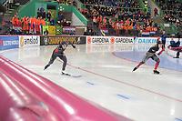 SPEEDSKATING: HAMAR: Vikingskipet, 28-02-2020, ISU World Speed Skating Championships, Sprint, 500m Ladies, Kimi Goetz (USA), Kaylin Irvine (CAN), ©photo Martin de Jong