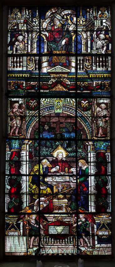 Window 4/South Wall West of Centre/In the Inn at Emmaus with the Two Disciples