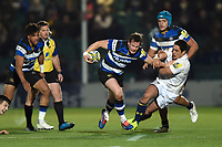 Chris Cook of Bath Rugby takes on the Worcester Warriors defence. Aviva Premiership match, between Worcester Warriors and Bath Rugby on January 5, 2018 at Sixways Stadium in Worcester, England. Photo by: Patrick Khachfe / Onside Images