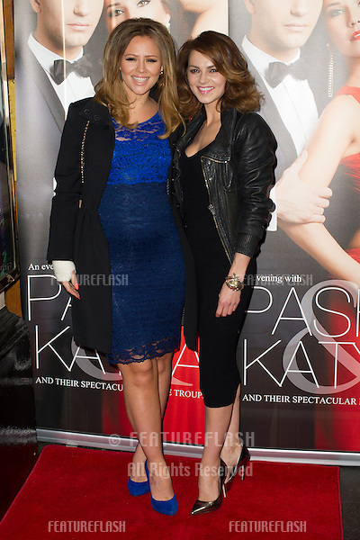 Kimberley Walsh and Kara Tointon at the Katya and Pasha West End show - Gala night held at the Lyric Theatre, London. 07/04/2014 Picture by: Dave Norton / Featureflash
