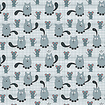 Seamless repeat pattern vector of cute cat &amp; mouse. Cat with different expressions and mouse smiling over checkered background.<br /> <br /> Available also as latest EPS format (Scalable to infinite size) and PNG format.<br /> <br /> WANT TO ZOOM IN ON JUST THE BASE TILE OF THIS PATTERN TO HAVE A CLOSER LOOK?<br /> <br /> You can also find the image of a single tile of this pattern in this gallery.<br /> <br /> Tip: It should be the image next to this one, or, just search &quot;seamless+cat+antics&quot;!