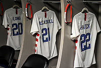 Jacksonville, FL - Thursday April 5, 2018: USWNT locker room, Allie Long,  Savannah McCaskill, Ashley Hatch  during an International friendly match versus the women's National teams of the United States (USA) and Mexico (MEX) at EverBank Field.