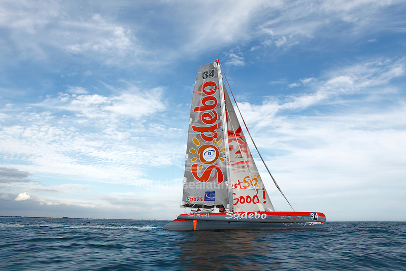 Thomas Coville, Sodebo in Preparation for La Route du Rhum La Banque Postale  2010.