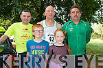 Pictured at the start of the Westfest 10k Run on Saturday was Liam Herlihy, newcastlewest, Bosco Cremin, Broadford, Liam Healy, Abbeyfeale. Front Row, Jack and Hannah Cremin, Broadford.