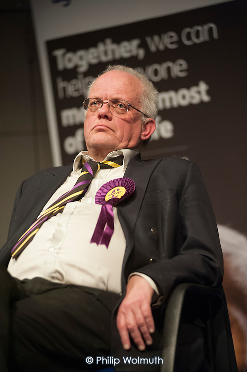 Magnus Nielsen (UKIP).  General election hustings in Hampstead and Kilburn, the second most marginal constituency in the UK.