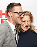 "Sharr White and Edie Falco attends the New Group World Premiere of ""The True"" on September 20, 2018 at The Green Fig Urban Eatery in New York City."