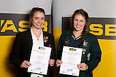 Gymsports Girls Finalists Jordan Rae and Chelsea Stitt.  ASB College Sport Young Sportsperson of the Year Awards held at Eden Park, Auckland, on November 11th 2010.