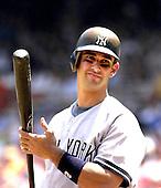 Washington, D.C. - June 17, 2006 -- New York Yankee catcher Jorge Posada (20) prepares to bat in the third inning against the Washington Nationals at RFK Stadium in Washington, D.C. on June 17, 2006.<br /> Credit: Ron Sachs / CNP