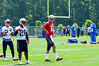 June 13, 2017: New England Patriots quarterback Tom Brady (12) takes part in the New England Patriots organized team activity held on the practice field at Gillette Stadium, in Foxborough, Massachusetts. Eric Canha/CSM