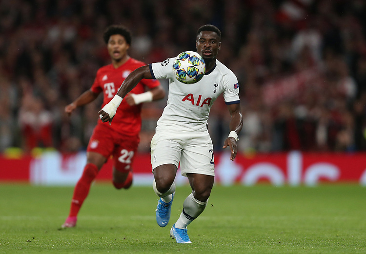 Tottenham Hotspur's Serge Aurier<br /> <br /> Photographer Rob Newell/CameraSport<br /> <br /> UEFA Champions League Group B  - Tottenham Hotspur v Bayern Munich - Tuesday 1st October 2019 - White Hart Lane - London<br />  <br /> World Copyright © 2018 CameraSport. All rights reserved. 43 Linden Ave. Countesthorpe. Leicester. England. LE8 5PG - Tel: +44 (0) 116 277 4147 - admin@camerasport.com - www.camerasport.com