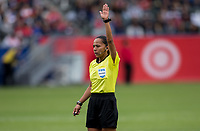 CARSON, CA - FEBRUARY 9: Referee Tatiana Guzman during a game between Canada and USWNT at Dignity Health Sports Park on February 9, 2020 in Carson, California.