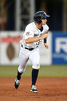 Lakeland Flying Tigers outfielder Ben Verlander (32) running the bases during a game against the Palm Beach Cardinals on April 13, 2015 at Joker Marchant Stadium in Lakeland, Florida.  Palm Beach defeated Lakeland 4-0.  (Mike Janes/Four Seam Images)
