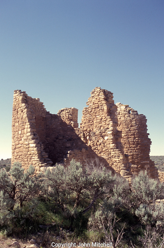 The Castle, ancient Anasazi ruins at Hovenweep National Monument on the border of Colorado and Utah