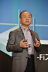May 7, 2013, Tokyo, Japan - Masayoshi Son, president of Softbank Corp., unveils a new line products for the summer and autumn seasons during a launch in Tokyo on Tuesday, May 7, 2013. .(Photo by Koichi Mitsui/AFLO)