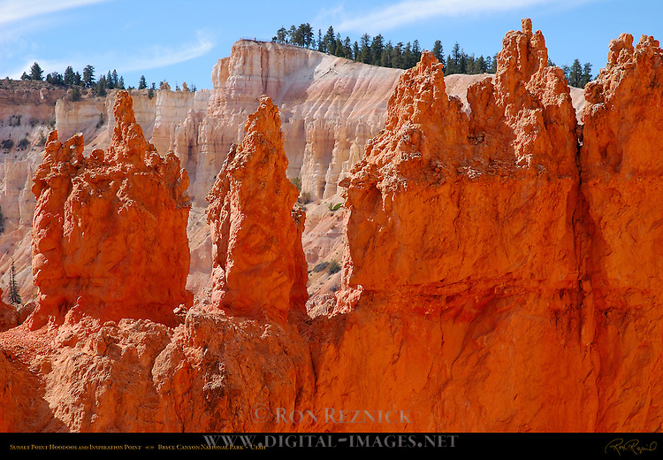 Sunset Point Hoodoos and Inspiration Point, Bryce Canyon National Park, Utah