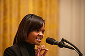 Candace Owens speaks at the Young Black Leadership Summit 2019 at the White House in Washington, D.C. on Friday October 4, 2019.  <br /> Credit: Tasos Katopodis / Pool via CNP