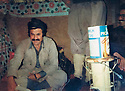 Iraq 1979 .In Nawzang, general Simko Alian of KDPI and right, Hussein Sinjari .Irak 1979.A Nawzang, general Simko Alian of KDPI , a droite , Hussein Sinjari